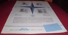 prospekt alt blatt kühlschrank linde lh 10 s,16,26 sf ,13s 1959 reklame werbung