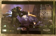 "Halo Combat Evolved First Game Poster Ad Print 10"" X 15""  X-Box"