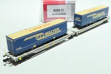 Fleischmann N DB AG AAE 6achs. Taschenw T2000 LKW Walter grau 825021 NEU OVP