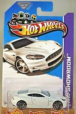 2013 Hot Wheels #153 Hw Showroom-Asphalt Assault Aston Martin Dbs White Variant