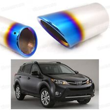 Blue Car Exhaust Muffler Tip Tail Pipe End Trim for Toyota RAV4 2013-2015 #2022