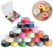 USA 25 Bobbins & Sewing Thread & Case For Brother Singer Babylock Janome Kenmore