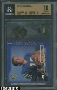 1998 SP Authentic Future Watch #14 Peyton Manning RC Rookie BGS 10 PRISTINE