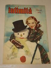 INTIMITA rivista DICEMBRE 1951 n. 305 = DIANA LYNN cover magazine =