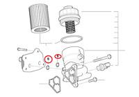 2 x Genuine Mini Engine Oil Cooler Gasket  R50/R53/R52 PN: 11427509261 UK New