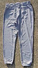 "Mens L NEW Nike Team Baseball Grey w/Royal Blue Side Stripe Long Pants 36"" x 29"""