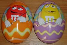 """M&M's EASTER EGG TINS lot of 2  Tins 7"""" by Mars 2013"""