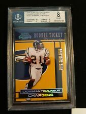 2001 PLAYOFF CONTENDERS CHAMPIONSHIP ROOKIE TICKET LADAINIAN TOMLINSON...