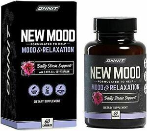 ONNIT New Mood 60 Caps, 5-HTP L-Tryptophan Relaxation Joe Rogan JRE MEGA VALUE