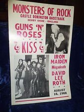 Monsters of Rock Tour G'n'R, KISS, Iron Maiden, Megadeath, David Lee Roth