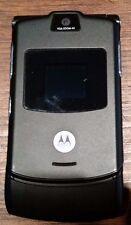 Motorola RAZR V3 - Black (Unlocked) Cellular Phone Fast Shipping Excellent Used