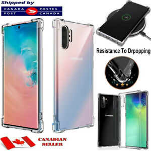 CLEAR Case For Samsung Galaxy Note 8 9 10 Plus Silicone Gel TPU Shockproof Cover