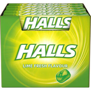 Halls Fresh Lime Flavour  20 x 33.5g Free Uk Delivery