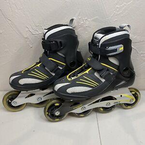 Ozone 500 Men's Inline Skates Size 7 Rollerblades Black Yellow Abec Aluminum