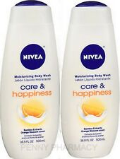 NIVEA Body Wash Care & Happiness Orange Blossom 16.9 oz ( 2 bottles )