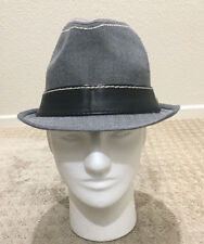 Rock The OC Lifestyle Gray Fedora With White Stitches 222a07379771
