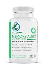 Memory Alert Brain and Focus Formula Offered by VITAGLOBAL 60 Capsules