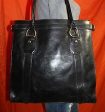 BANANA REPUBLIC Black Large Leather Shoulder Hobo Tote Shopper Purse Bag