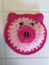 Crocheted Piggy Scrubbie/washcloth