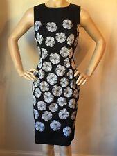 NWT St John knit dress size 2 black caviar silk