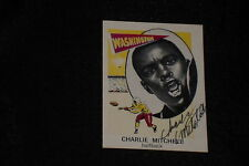 CHARLIE MITCHELL 1961 NU CARD SIGNED AUTOGRAPHED CARD #118 WASHINGTON