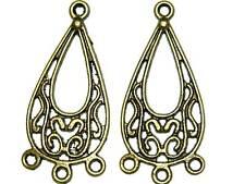 100 oval chandelier earring finding lot brass tone