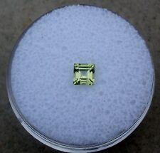 Peridot Square Loose Faceted Natural Gem 4mm
