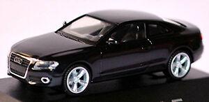 Audi A5 Coupe 8T 2007-11 IN Pc-Showcase Display Box Phantom Black Metallic 1:87