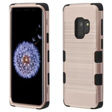 for Samsung Galaxy S9 G960 TUFF Brushed Metal Texture Hybrid Case Cover +PryTool