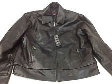 Collezione Bulgo Di Milano Women's Leather Winter Jacket Size XXL