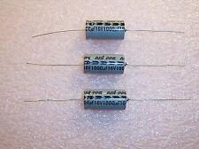 QTY (50)  1000uf 16V +50/-10% 13x26 AXIAL ALUMINUM ELECTROLYTIC CAPACITORS