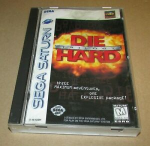 Die Hard Trilogy for Sega Saturn Complete Fast Shipping!