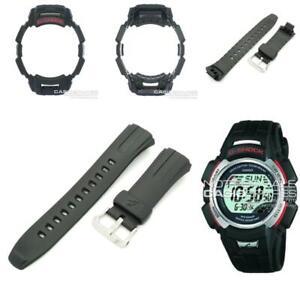 Genuine Casio Watch Band & Bezel for G-Shock GW-300 GW-301 Black Strap Shell