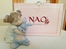 1997 Nao by Lladro Spain Porcelain I Love You So Much Girl w Bunny Figurine#1263