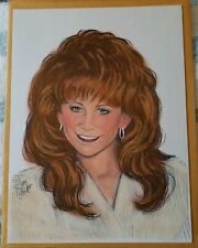 Reba McEntire Artist's Beautiful Portrait Of The Queen Of Country 11 X 14.5