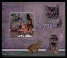 GUINEA-BISSAU EPREUVE DE LUXE KATZEN KATZE CATS CAT CHAT GATO DELUXE SHEET dr55