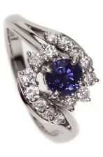 Mikimoto Sapphire And Diamond Ring