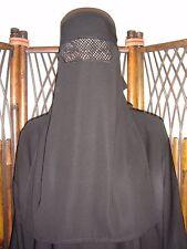 Black Single Layer Niqab Afghan Afghani Islamic One Layer Nikab Muslim Black