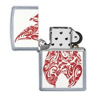 Zippo Genuine Windproof Lighter White / Red Flame MADE IN USA! New Sealed!