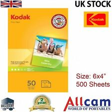 "10Pack: Kodak Glossy Photo Paper 6x4"" 240gsm for All Inket Printers (500 sheets)"