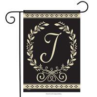 "Carson Classic Monogram J Garden Flag Everyday Double Sided Letter J 12.5"" x 18"""