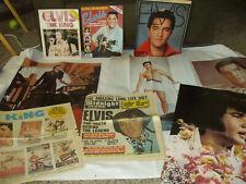 elvis presley memorabilia lot - posters, magazines, concert ticket