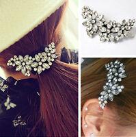 Vintage Women Lady Rhinestone Flower Crystal Headband Hair Clip Pin Comb Jewelry