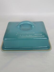 Le Creuset Stoneware Covered Butter Dish Caribbean Blue *NEW*