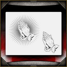"""Praying Hands 1"" Airbrush Stencil Template Airsick"