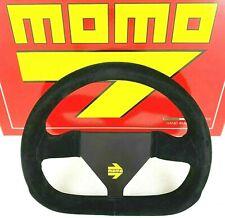 Genuine Momo Model Mod.12 black suede steering wheel 260mm. Track race rally