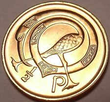 Gem Unc Ireland 1971 Half Penny~1st Year Ever Minted~Neck Twisted Bird~Free Ship