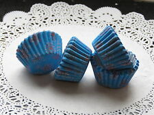 100x Mini Light Blue & Pink Pattern Cupcake Fairycake Cases 2.5cm Diameter Base