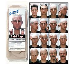 Graftobian Plastic / Vinyl Long Neck Bald Cap & Instructions, Latex FREE