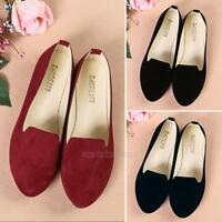 New Womens Fashion Casual Ballet Flats Shoes Vintage Loafers Boat Single Shoes